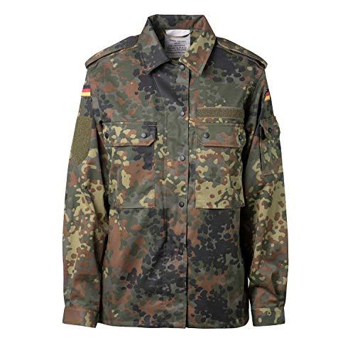 FLECKTEX Original Damen BW Feldbluse Flecktarn 5- Farbig für Frauen | Bundeswehr Kampfbluse und Survival Bluse | Tactical Bluse und Security Bluse (Flecktarn 5- Farbig, 44/46 L)