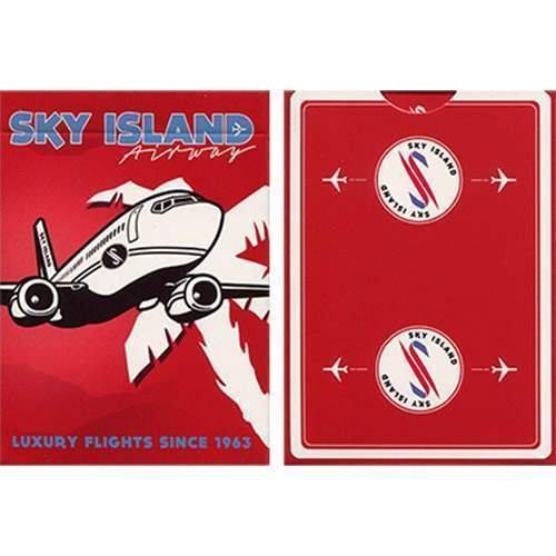 Jeu 54 cartes Format Poker - Jeu Sky Island (Rouge)