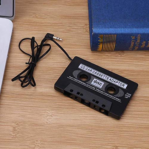 Sala-Store - Portable Car Cassette Tape Audio Adapter Converter with 3.5mm Audio Jack For Phone MD Mp3 AUX CD Player