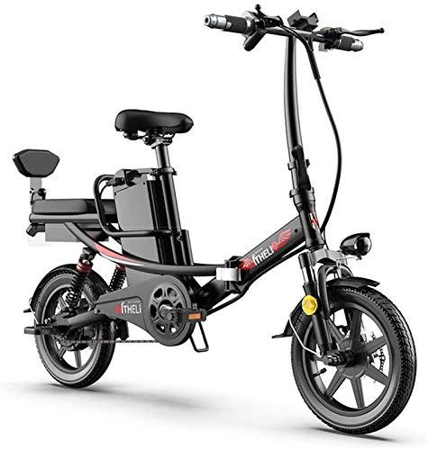 Bicicletas Eléctricas, Bicicleta eléctrica Plegable eléctrico E-Bici de 14 Pulgadas neumáticos de...