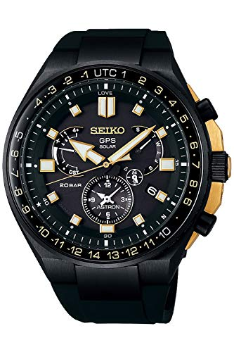 Seiko astron Herren Uhr analog Solar mit Silikon Armband SSE174J1