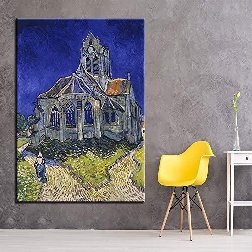 AJleil Puzzle 1000 Piezas Iglesia de Arte en Ofer Pictures Paisaje Abstracto impresionista Puzzle 1000 Piezas Gran Ocio vacacional, Juegos interactivos familiares50x75cm(20x30inch)