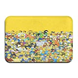 Large Puzzle The Simpsons - Alfombra antideslizante de microfibra para baño (16 x 24 pulgadas)