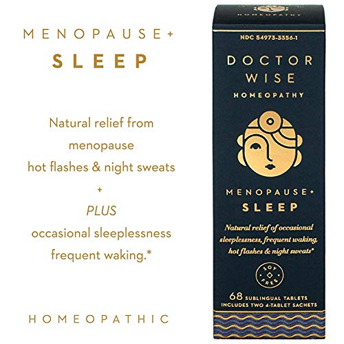 Menopause Natural Homeopathic Relief of Sleeplessness, Frequent Waking, Hot Flashes and Night Sweats, Doctor Wise Menopause Sleep by Hyland's, 68 Quick Dissolving Tablets