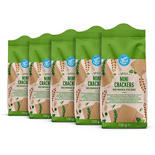 Marca Amazon – Happy Belly – Minigalletas provenzales, 5 x 130g