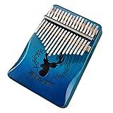 Type de Elk Pouce Piano 17 touches Kabarin Noël Modèle personnalisé, un cadeau de Noël pour les enfants blue