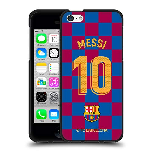 Head Case Designs Officially Licensed FC Barcelona Lionel Messi 2019/20 Players Home Kit Group 1 Black Soft Gel Case Compatible with Apple iPhone 5c