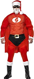 Super Fit Santa Fancy Dress Costume Mens (Christmas, Heroes)