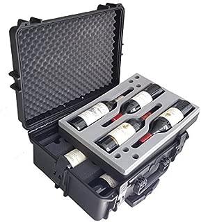 Carrying Case for Wine - Bottles - Winecase - Wheeled Case - Wine transport - Wine Agent - Bottle Wine Carrier - hard case