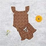 AOQW Conjunto De Ropa para Bebés Y Niños Nacidos De Invierno para Bebés 0-4Y Moda 2Pcs Jersey De Leopardo Top Pantalones Largos Bebes Set-Khaki_18M