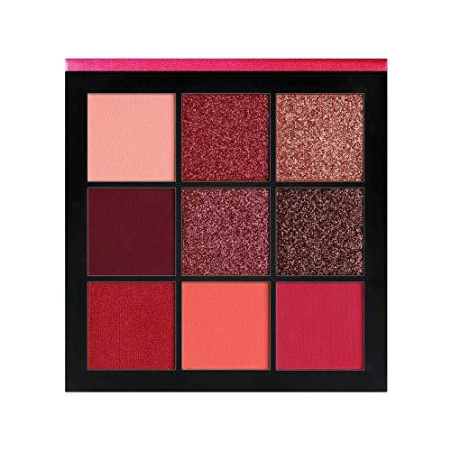 Nicedeal 9 Farben Lidschatten-Palette langlebige Make-up Lidschatten-Puder (rot)