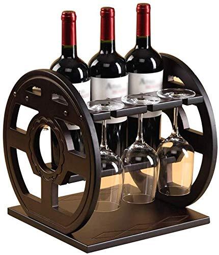 Estante de vino colgante, estante de copa de vino Estante de vino de madera maciza, estante de cubeta invertida de madera sobre encimera Sala de estar en el hogar Estante de decoración de vino