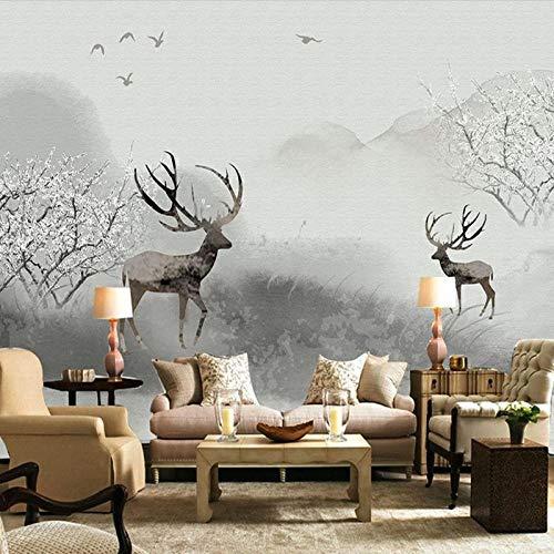 Fotobehang - eland van de boerderij, vierkant, wandbehang, wandbehang, fotobehang, 3D-wanddecoratie, decoratief 400 cm.