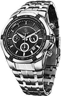 Olivera OGS705-BLACK/SILVER Watch For Men