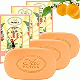 Pack 3x100g Seife JOIE Un Air d'Antan/Parfüm: Orangenblüte/Bio-Arganöl &...
