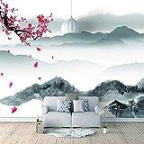 Papel Pintado 3D Murales China Montaña Meihua- Fotomurales Para Salón Natural Landscape Foto Mural Pared, Dormitorio Corredor Oficina Moderno Festival Mural 250x175 cm - 5 tiras