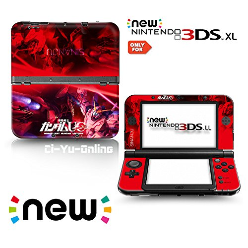 Ci-Yu-Online VINYL SKIN [new 3DS XL] - Mobile Suit Gundam Unicorn UC #1 Sinanju Red - Limited Edition STICKER DECAL COVER for NEW Nintendo 3DS XL / LL Console System