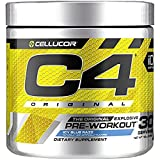 C4 Original Pre Workout Powder ICY Blue Razz | Vitamin C for Immune Support | Sugar Free Preworkout Energy for Men & Women | 150mg Caffeine + Beta Alanine + Creatine | 30 Servings