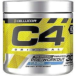 C4 Original Pre Workout Powder ICY Blue Razz| Vitamin C for Immune Support | Sugar Free Preworkout