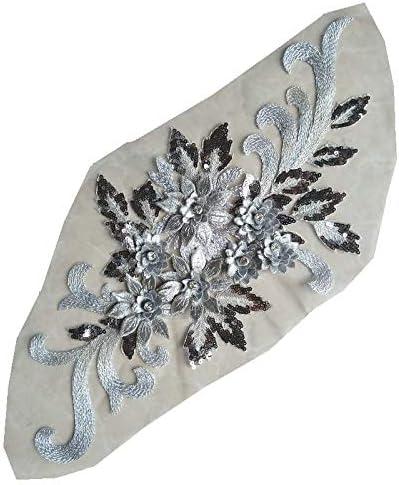 High-end 3D Flower Applique Beaded Floral [Alternative dealer] 5 popular Weddi Patches Sequined