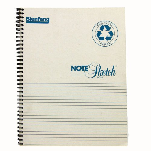 Bienfang Notesketch Paper Pad, Horizontally-Lined, 64 Pages, 8.5-Inch by 11-Inch
