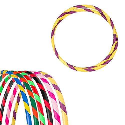 Bunter Hula Hoop Reifen, faltbar, Ø100cm, Gelb-Violett