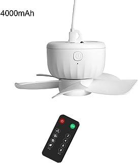 Ventilador USB recargable con mando a distancia, temporizador de 4 velocidades, para colgar en el techo