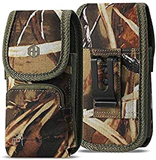 Military Grade Cell Phone Case, Rugged Outdoor Carry Pouch Belt Clip Compatible w/ [iPhone 6 6S 7 8 X XR XS (4.7'')] Kyocera DuraForce rugged Canvas Holster Fits Phone with Battery Case