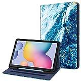Fintie Funda para Samsung Galaxy Tab S6 Lite de 10.4' con Portalápiz - [Multiángulo] Trasera de TPU Suave con Bolsillo Auto-Reposo/Activación para Modelo SM-P610/P615, Azul Océano