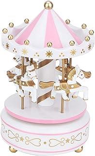 AUNMAS Merry-Go-Round Music Box Carrousel Musical Box pour No?l Mariage Cadeau d'anniversaire Boutique Affichage Artisanat...