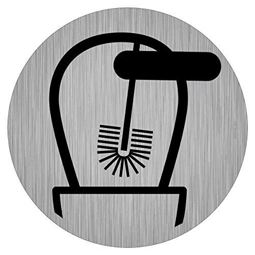 immi Toilette-Hinweis, Klobürste verwenden, WC Hygiene, sauber halten, 95mmØ