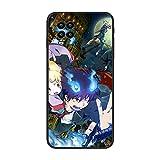 Black Thin Soft Matte Rubber Case Coque Cover for XIAOMI Mi 10 Lite-Blue Exorcist-Rin Okumura 8