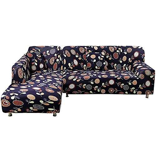 WXQY Funda de sofá de Sala de Estar con Estampado Floral Europeo Todo Incluido Funda de sofá Antideslizante elástica Funda de sillón Funda de sofá A8 2 plazas