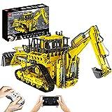 CALEN Technik RC Excavadora neumática de doble cubo con 6 motores, Mold King 17023, 3936 piezas de excavadora de orugas a control remoto, compatible con Lego Technic