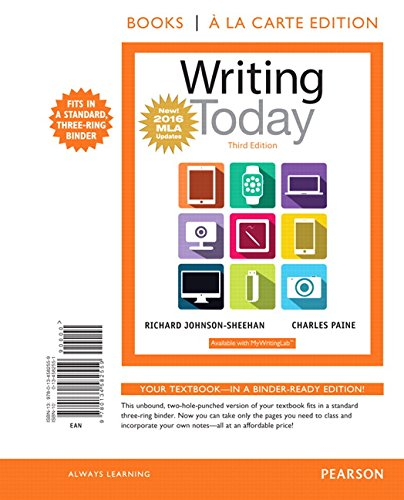 Writing Today, Books a la Carte Edition, MLA Update Edition (3rd Edition)