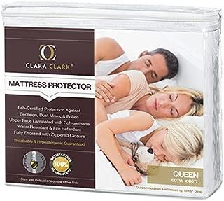 Clara Clark Queen Size - Hypoallergenic Water-proof Mattress Protector, - Bed Bugs, Dust Mites, Pollen, Mold And Fungus, Proof