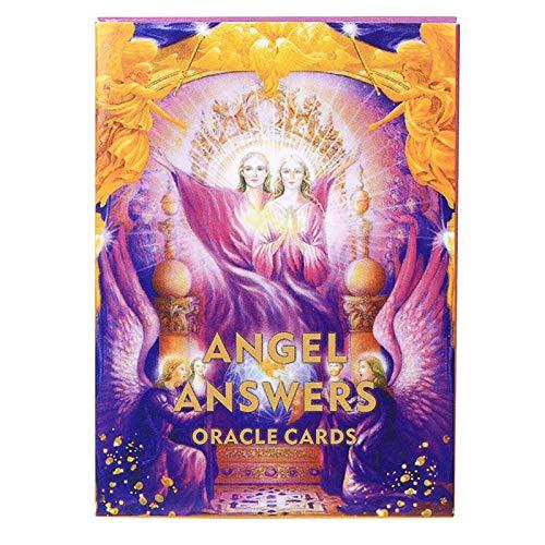 CYGG Ángel responde a Oracle Tarjetas: 44 Tarjetas, guía de PDF en línea, Juegos de la Junta Holográfica Terreno Adivinación para Adultos y niños Tabla de Mesa Jugando