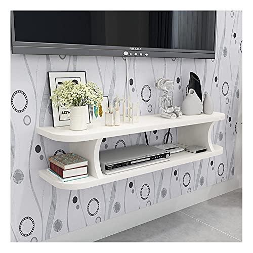DRAGDS Media Console Tv Stop Mueble de Pared, Unidad de Entretenimiento Flotante, 3 Compartimentos Abiertos, Muy Robusta/E / 60 × 20 × 13Cm,D,80 × 20 × 13Cm