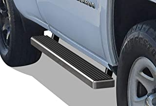 APS iBoard Running Boards 4 inches Custom Fit 1999-2016 Chevy Silverado GMC Sierra Regular Cab (Exclude CK Classic) (Nerf Bars Side Steps Side Bars)