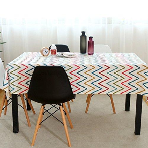 Nordique rayé coton petit chiffon frais simple Fanyi nappe salon salle à manger maison table basse pad art nappe ( Size : 100*160cm )