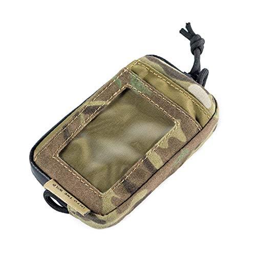 OneTigris Front Pocket Mini Wallet with Waterproof Zippers CASSETTE EDC Pouch 500D Nylon (Multicam)