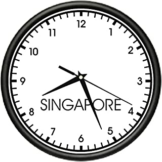 Singapore TIME Wall Clock World time Zone Clock Office Business