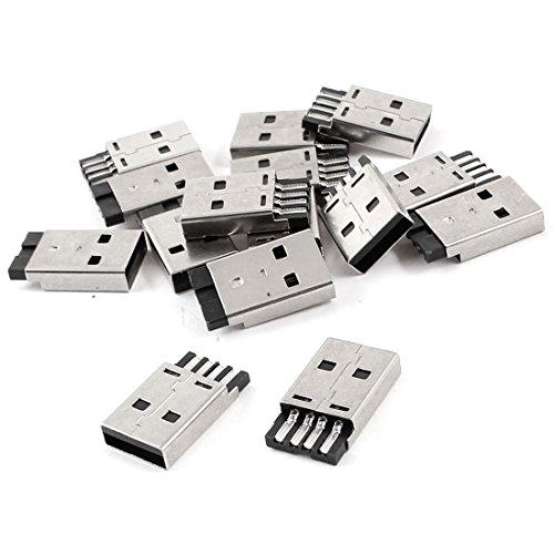 Sourcingmap® Dose mit USB 2.0 Typ A Male Klinke Löten Stecker Adapter de