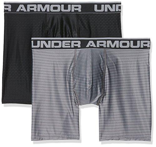 Calzoncillos Under Armour de 15cm, set de 2, hombre, color Black / Steel, tamaño 5X-L