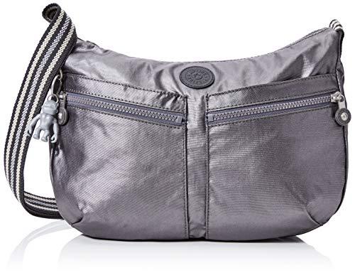 Kipling Izellah Women's Cross-Body Bag, Black (Carbon Metallic), 33x23x12 Centimeters (B x H x T)