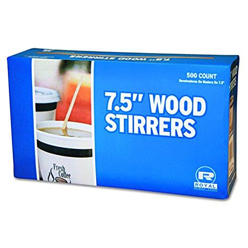 K-nigliche Papier R825 Holz Kaffee R-hrwerke, 7,5 cm lang, Woodgrain, 500 R-hrer-Box