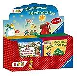 Verkaufs-Kassette 'Ravensburger-Minis 122 - Wundervolle Weihnachten': Mein Weihnachts-Wimmelbuch / Erzähl mir die Weihnachtsgeschichte / Meine liebsten Weihnachtslieder / Meine Weihnachtsmandalas