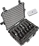 Case Club 7 Pistol and 14 Magazine Pre-Cut Heavy Duty Waterproof Case with Included Silica Gel Canister to Help Prevent Gun Rust (Upgraded Gen-2)