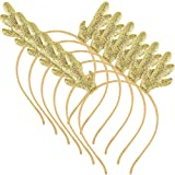 6 Pieces Christmas Glitter Antlers Headband...