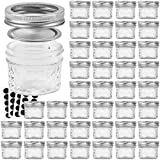 VERONES Mason Jars Canning Jars, 4 OZ Jelly Jars With Regular Lids, Ideal for...